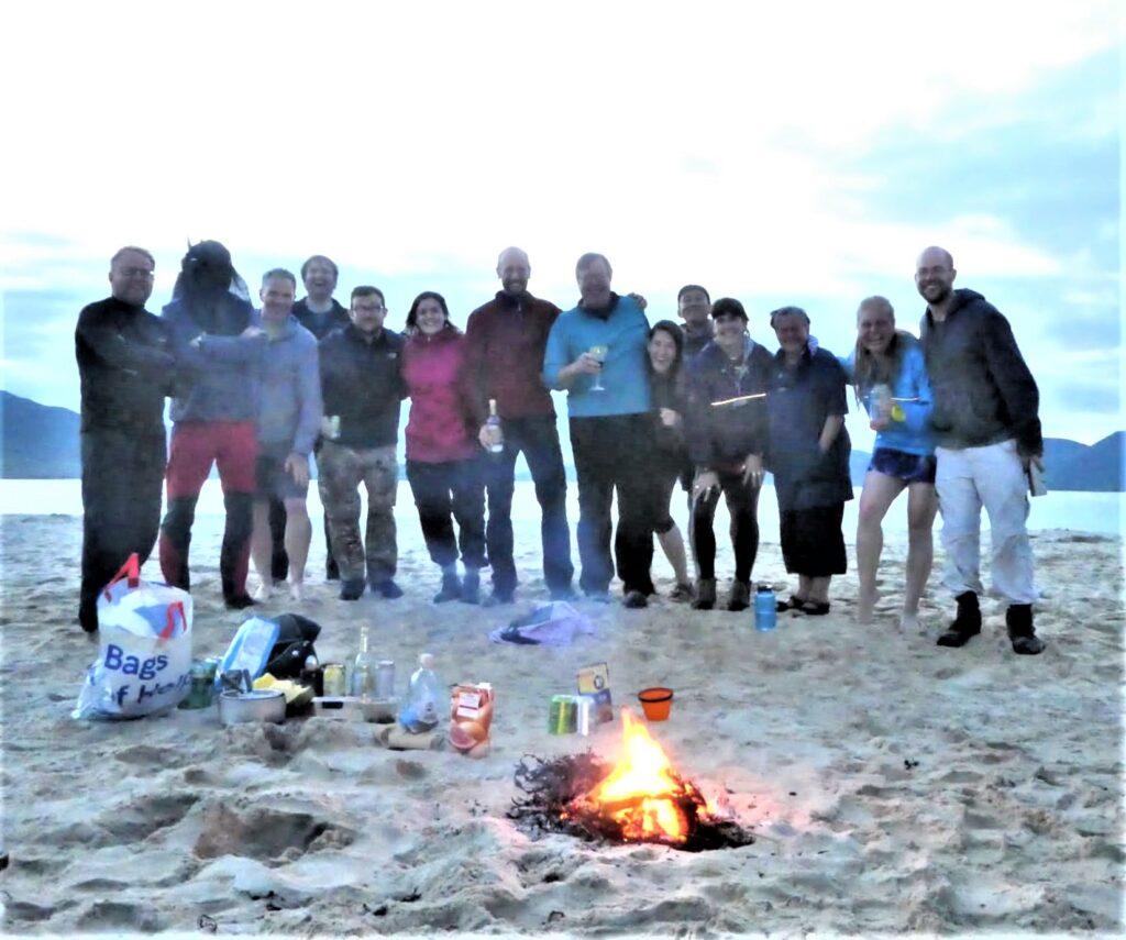 DMC Harris and St Kilda beach fire